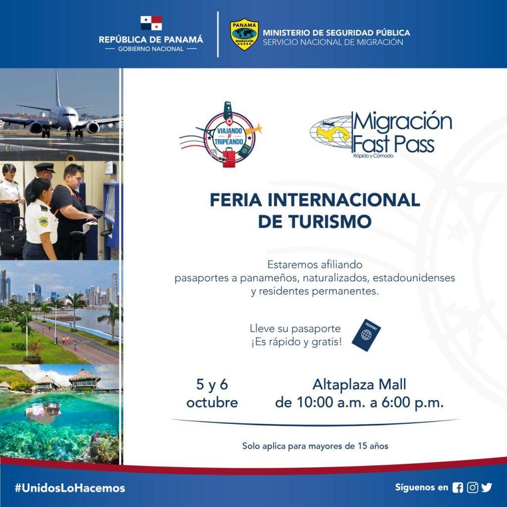 Afiliación de pasaportes en Feria de Turismo en Altaplaza